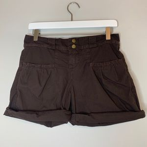 Joie Brown Cargo Cotton Shorts 0